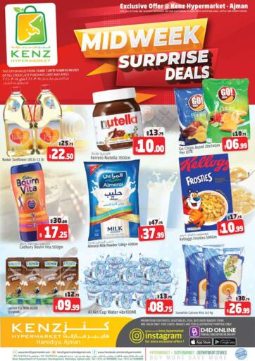 UAE - Sharjah / Ajman Kenz Hypermarket offers in D4D Online. Midweek Surprise Deals. Midweek Surprise Deals Available Now At Kenz Hypermarket.Visit Your Nearest Store And Get Everything At Exciting Offer.Valid Till 18th March 2021.  Enjoy Shopping!!!. Until Stock Last