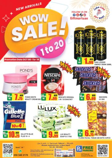 UAE - Sharjah / Ajman GIFT MART- Sharjah offers in D4D Online. Wow Sale!. Shop Your  Favorite Products  From Gift Mart With Their  Wow Sale. Offer Valid Till 15th October 2021.  Enjoy Shopping!!!. Till 15th October