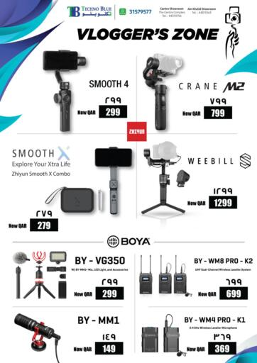 Qatar - Al-Shahaniya Techno Blue offers in D4D Online. Qatar Vlogger Essentials. Now its time to shop from Techno Blue. Get Qatar Vlogger Essentials offers and get your products at great discounts. Offers valid Till 05th June.   Hurry Up!!!!!. Till 05th June