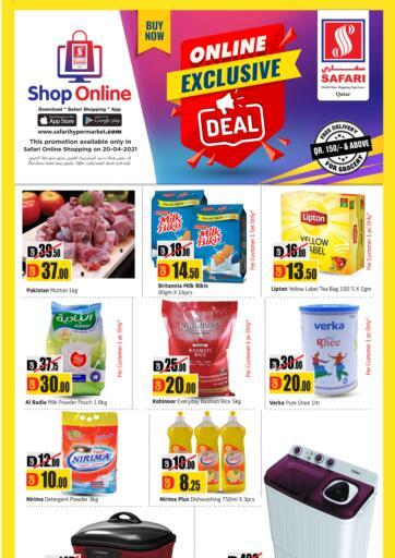 Qatar - Al Daayen Safari Hypermarket offers in D4D Online. Online Exclusive Deal. . Only On 20th April