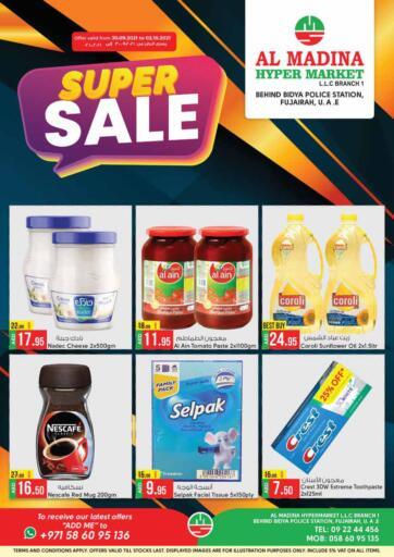 UAE - Fujairah Al Madina Supermarket LLC offers in D4D Online. Behind Bidya Police Station. . Till 2nd October