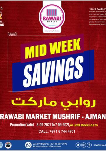 UAE - Sharjah / Ajman Rawabi Market Ajman offers in D4D Online. Special Offers @Mushrif. Special Offers Now From Rawabi Market. Offer Valid Till 07th September 2021.  Enjoy Shopping!!!. Till 7th September