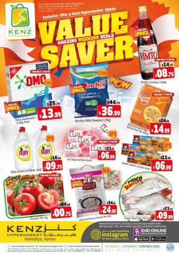 UAE - Sharjah / Ajman Kenz Hypermarket offers in D4D Online. Value Saver. Value Saver!!! Offers Going On For  Fresh Foods, Groceries, Home Needs, Fashion & Many More. Get your favorite products at the best prices from Kenz Hypermarket. Buy More Save More! .  Offer Valid Till 14th February 2021. Happy Shopping!!!. Start Shopping!!!! . Till 14th February