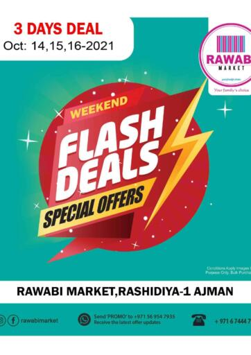 UAE - Sharjah / Ajman Rawabi Market Ajman offers in D4D Online. Weekend Flash Deals @Rashidiya. . Till 16th October