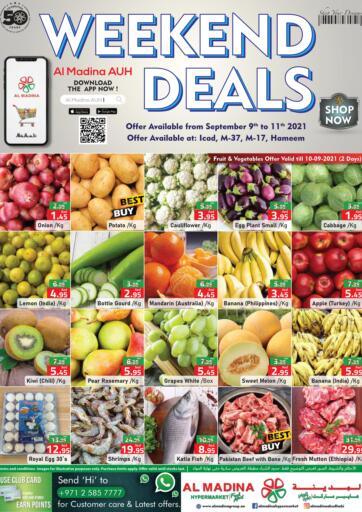 UAE - Abu Dhabi Al Madina Hypermarket offers in D4D Online. Weekend Deals @ICAD, M-37, M-17, Hameem. . Till 11th September