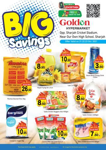 UAE - Sharjah / Ajman Golden Hypermarket offers in D4D Online. Big Saving. . Till 23rd October