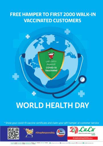 Bahrain LuLu Hypermarket offers in D4D Online. World Health Day. . Until Stock Lasts