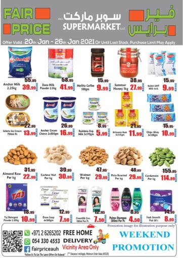 UAE - Abu Dhabi Fair Price Supermarket LLC offers in D4D Online. Weekend Promotion. . Till 26th January