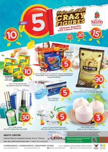 UAE - Ras al Khaimah Nesto Hypermarket offers in D4D Online. Ras Al Khaima. . Till 24th October
