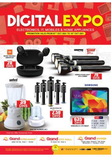 UAE - Dubai Grand Hyper Market offers in D4D Online. Digital Expo. . Till 16th October