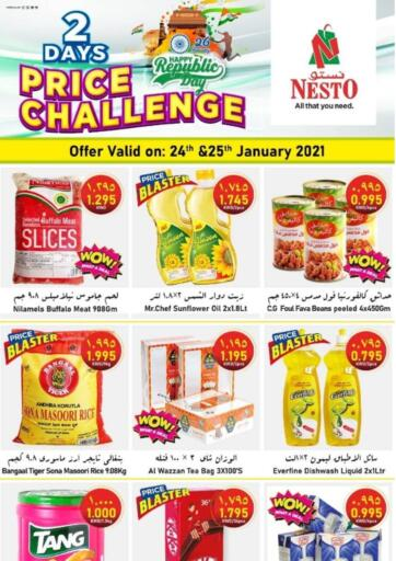 Kuwait Nesto Hypermarkets offers in D4D Online. 2 Days Price Challenge. . Till 25th January