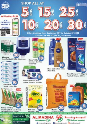 UAE - Abu Dhabi Al Madina Hypermarket offers in D4D Online. Shop All At 5 10 15 20 25 30 DHS. . Till 03rd October