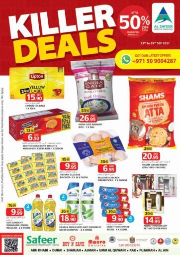 UAE - Sharjah / Ajman Safeer Hyper Markets offers in D4D Online. Killer Deals. Shop The Best With Killer Deals.Offer Valid Till 29th September 2021. Enjoy Shopping!!!. Till 29th September