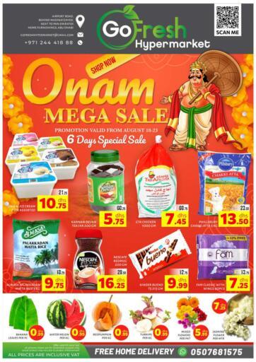 UAE - Abu Dhabi GO FRESH HYPERMARKET LLC offers in D4D Online. Onam Mega Sale. . Till 23rd August