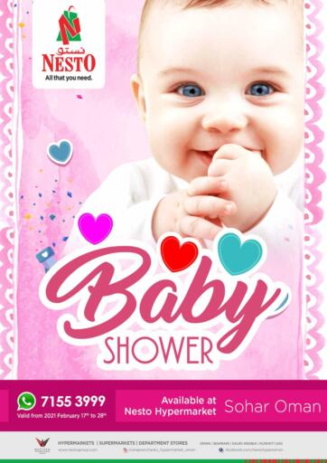 Oman - Sohar Nesto Hyper Market   offers in D4D Online. Baby Shower. . Till 28th February