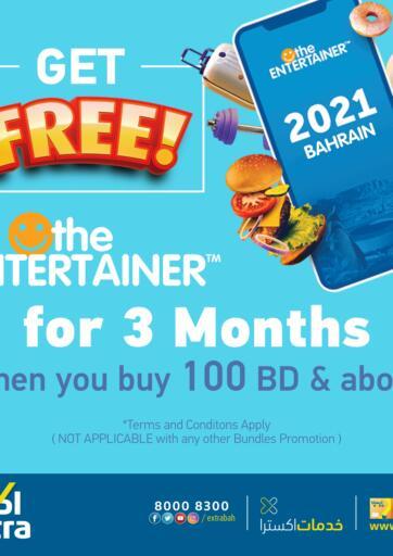 Bahrain eXtra offers in D4D Online. FREE ENTERTAINER. . Till 10th September