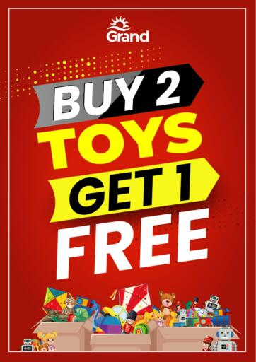 Kuwait Grand Hyper offers in D4D Online. Buy 2 Toys Get 1 Free. . Until Stock Last