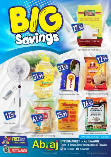 UAE - Sharjah / Ajman Abraj Hypermarket offers in D4D Online. Big Savings. . Till 31st July