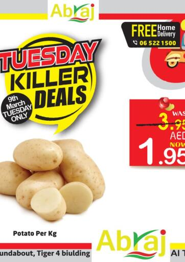 UAE - Sharjah / Ajman Abraj Hypermarket offers in D4D Online. Tuesday Killer Deals. . Only on 9th March