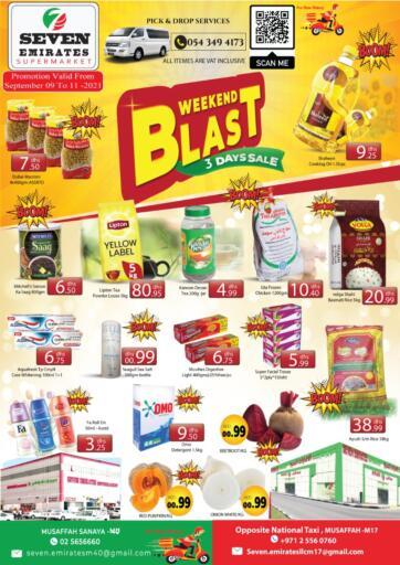 UAE - Abu Dhabi Seven Emirates Supermarket offers in D4D Online. Weekend Blast. . Till 11th September