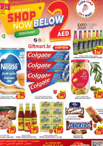 UAE - Sharjah / Ajman GIFT MART- Ajman offers in D4D Online. Flash Sale Shop Now Below 2 AED. . Till 24th October