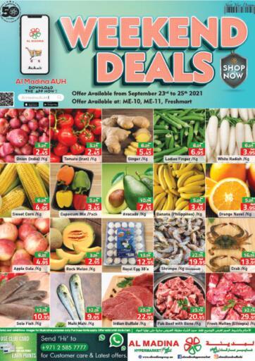 UAE - Abu Dhabi Al Madina Hypermarket offers in D4D Online. Weekend Deals @ME10,ME11,Fresh Mart. . Till 25th September