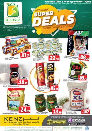 UAE - Sharjah / Ajman Kenz Hypermarket offers in D4D Online. Midweek Super Deals. Midweek Super Deals Now Available At Kenz Hypermarket.Do Shop Your Favorites At Exciting Prices. Offer Valid Till 11th March 2021.  Enjoy Shopping!!!. Till 11th March
