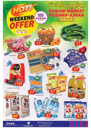 UAE - Sharjah / Ajman Rawabi Market Ajman offers in D4D Online. Hot Weekend Offer - Mushrif, Ajman. . Till 13th February