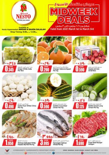 Oman - Salalah Nesto Hyper Market   offers in D4D Online. Midweek Deals. . Till 03rd March