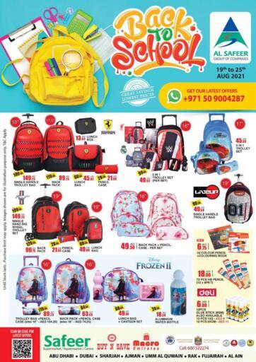 UAE - Sharjah / Ajman Safeer Hyper Markets offers in D4D Online. Back To School. . Till 25th August