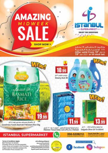 UAE - Dubai Istanbul Supermarket offers in D4D Online. Amazing Midweek Sale. . Till 19th January