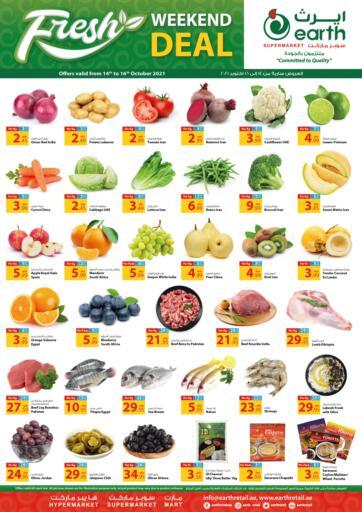 UAE - Dubai Earth Supermarket offers in D4D Online. Weekend Deal. . Till 16th October