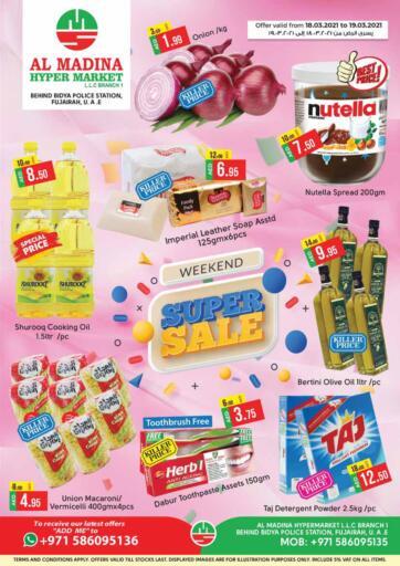 UAE - Fujairah Al Madina Supermarket LLC offers in D4D Online. Super Sale @ Bidya. . Till 19th March