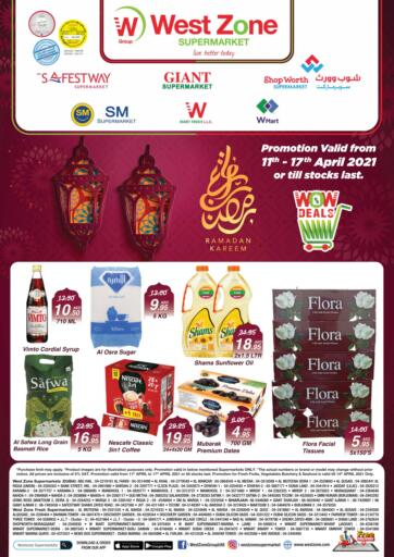 UAE - Abu Dhabi West Zone Supermarket offers in D4D Online. WOW Deals. . Till 17th April