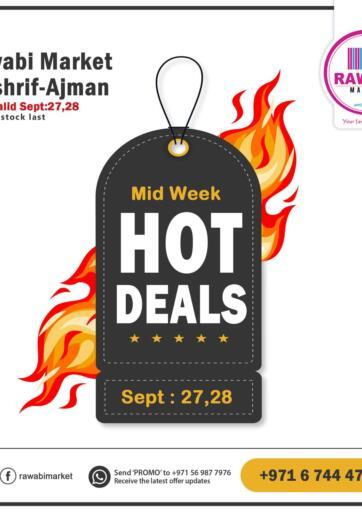 UAE - Sharjah / Ajman Rawabi Market Ajman offers in D4D Online. Hot Deals - Mushrif. Hot Deals Now From Rawabi Market. Offer Valid Till 28th September 2021.  Enjoy Shopping!!!. Till 28th September