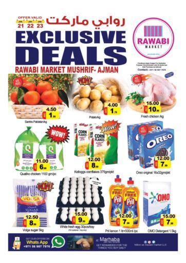 UAE - Sharjah / Ajman Rawabi Market Ajman offers in D4D Online. Mushrif, Ajman. . Till 23rd January