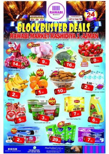 UAE - Sharjah / Ajman Rawabi Market Ajman offers in D4D Online. Blockbuster Deals. . Till 27th February