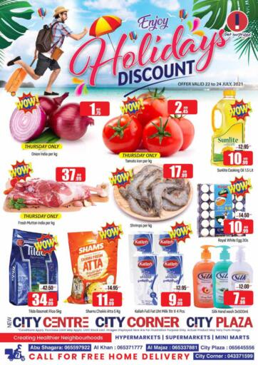 UAE - Sharjah / Ajman City Plaza offers in D4D Online. Holiday Discount. . Till 24th July