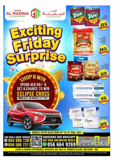 UAE - Dubai Azhar Al Madina Hypermarket offers in D4D Online. Exciting Friday Surprise. . Till 21st March