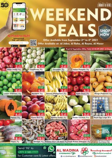 UAE - Abu Dhabi Al Madina Hypermarket offers in D4D Online. Weekend Deals @ Al Jaber, Al Raha, Al Rayan, Al Naser. Enjoy The Weekend Deals Exclusively From Al Madina Hypermarket. Offer Valid Till 04th September 2021.  Enjoy Shopping!!!. Till 4th September