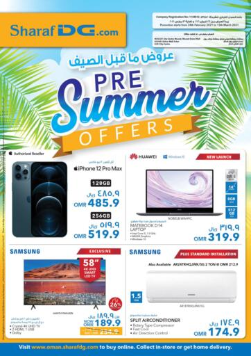 Oman - Muscat Sharaf DG  offers in D4D Online. Pre-Summer Offers. . Till 13th March