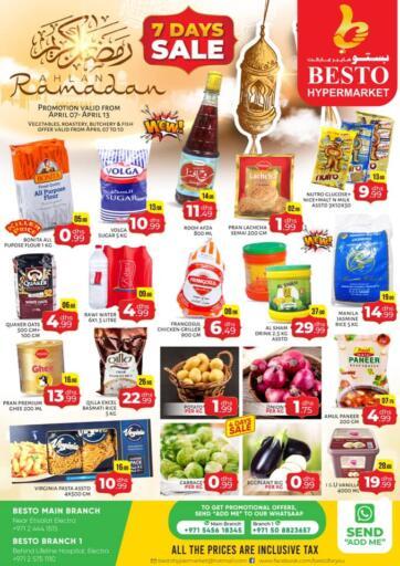 UAE - Abu Dhabi Besto Hypermarket offers in D4D Online. 7 Days Sale. . Till 13th April