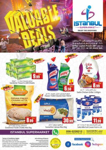UAE - Dubai Istanbul Supermarket offers in D4D Online. Value Deals. . Till 31st January