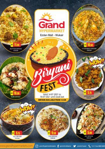 Qatar - Al-Shahaniya Grand Hypermarket offers in D4D Online. Biriyani Fest. Biriyani Fest Offers Are Available At Grand Hypermarket. Offers Are Valid Till   16th July . Enjoy!! Offers Are Available At Grand Hypermarket. Offers Are Valid Till   14th July . Enjoy!!. Till 16th July