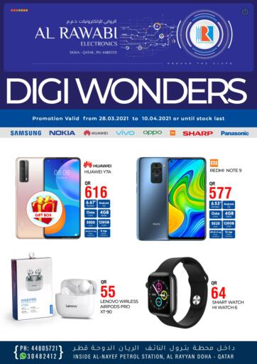 Qatar - Doha Al Rawabi Electronics offers in D4D Online. Digi Wonders. Digi Wonders Offers Are Available At Al Rawabi Electronics. Offers Are Valid Till 10th April. Enjoy Shopping!!. Till 10th April