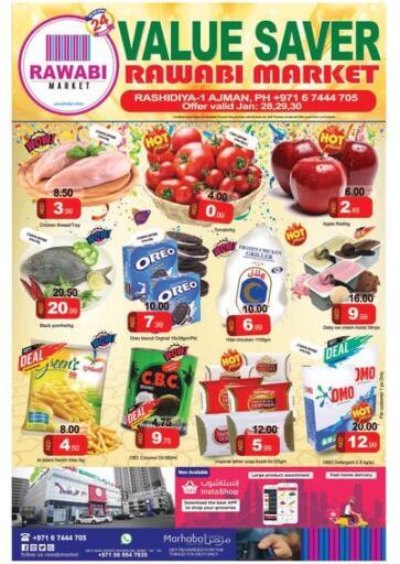 UAE - Sharjah / Ajman Rawabi Market Ajman offers in D4D Online. Value Saver. . Till 30th January