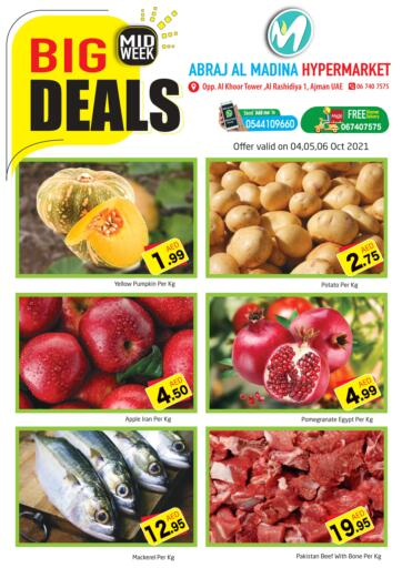 UAE - Sharjah / Ajman Abraj Hypermarket offers in D4D Online. Midweek Big Deals @ Al madina. . Till 06th October
