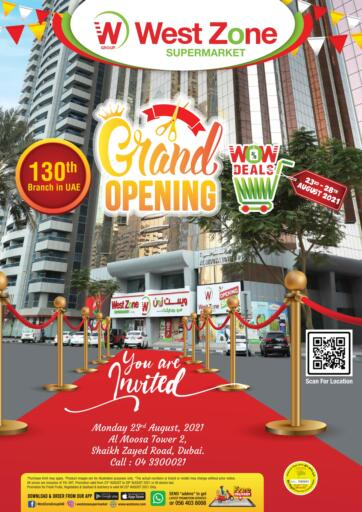 UAE - Sharjah / Ajman West Zone Supermarket offers in D4D Online. Grand Opening. . Till 28th August