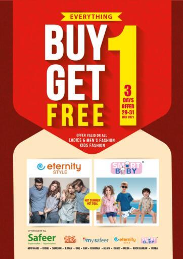 UAE - Sharjah / Ajman Safeer Hyper Markets offers in D4D Online. Buy 1 Get 1 Free. . Till 31st July