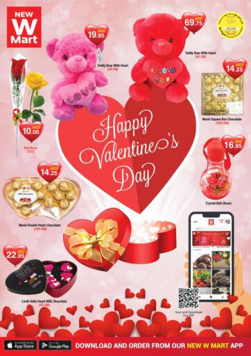 UAE - Dubai NEW W MART SUPERMARKET  offers in D4D Online. Happy Valentines Day. . Until Stock Last